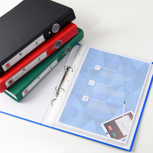 Wholesale Office Supplies 4 Colors Double Orifice Inset A4 Manager Plastic Office Loose Filing Folder Business Use Clipboards