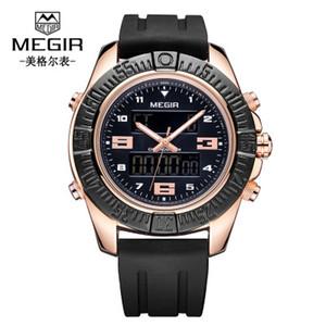 MEGIR Multi-Function Men's Watch Hot Sale Quartz Sports Calendar Watch