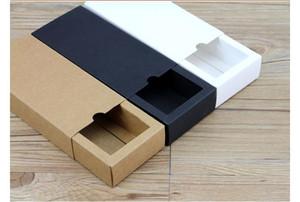 Regalo de boda blanca 60pcs Caja de cartón de papel Kraft gaveta de la caja de embalaje de papel para la joyería / Té / Handsoap / caramelo