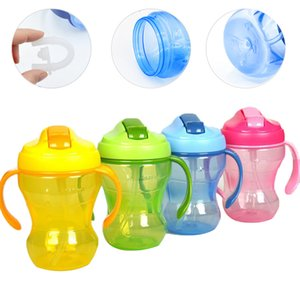 260ml Baby Feeding Cup with Handle Children Learning Feeding Bottle Child Training Cup Cute Duckbill Healthy Portable Leakproof