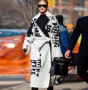TVVOVVIN 2019 Automne et Hiver Nouveaux produits Mode Lapel Lettre longue taille mince mince lâche chaud Manteau en laine Femme PA290