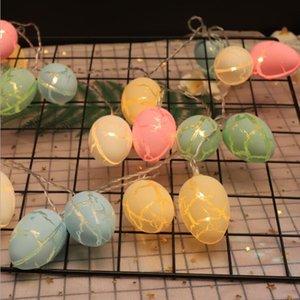 Easter Egg Лаки Лампа Строка Творческий Led Мерцание свет Cracked Eggshell батареи Красочный Малый Night Light Garden Room украшения WY523Q
