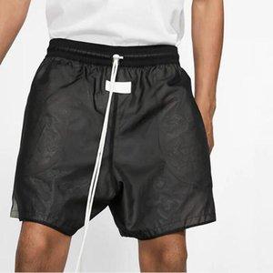 20SS FG Classic Sport Fitness elástico de la cintura cortocircuitos ocasionales calle con cordón pantalones al aire libre corto Pantalón respirable del verano pone en cortocircuito HFYMKZ204