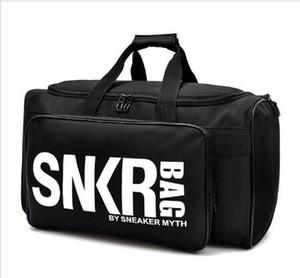 Nuevo bolso de lona de diseñador SNKR 19ss Bolsos de diseñador para mujer para hombre Negro Blanco Bolsa de viaje de gran capacidad Bolsas de gimnasio