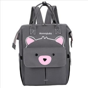 La mamá de maternidad linda del gato bolso del panal de gran capacidad bebé bolsa de Nueva multifuncional mochilas mochilas Madre CFYZ121Q