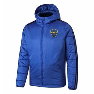 2020 2021 Boca Juniors cappotto in cotone invernale con cappuccio giacca calda giacca a vento abbigliamento sportivo outdoor cappotto di formazione di calcio maschile Giacche