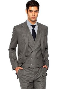 gray suits men for wedding tuxedo groom wear 2020 custom made 3 piece high quality suit