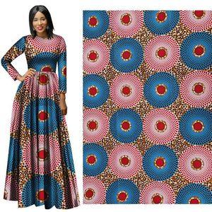 Ankara africano poliéster cera imprime tecido binta real cera de alta qualidade 6 jardas / lote tecido africano para vestido de festa