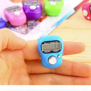 A 100pcs Mini Hand Hold Band Tally Counter LCD Digital Screen Finger Ring Counter Electronic Hand Ring Counter