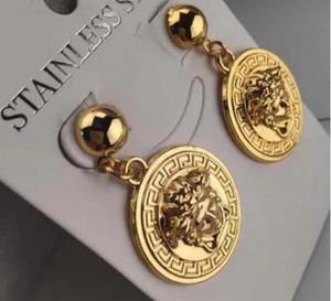 6131 annata orecchini per le donne di colore oro geometrici orecchini di dichiarazione del 2019 metallo Earing Hanging tendenza gioielli