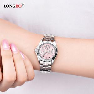 2020 Longbo orologi di lusso delle donne Fashion Casual quarzo dell'acciaio inossidabile libero impermeabile signora vigilanza 8342