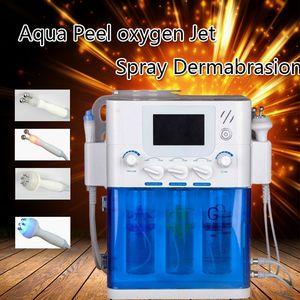 Portable 4 in 1 Hydra aqua peeling facial RF bio microcurrent spray water oxygen facial deep cleansing face lift skin rejuvenation beauty