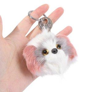 Plush Poodle Dog Keychain Bag Pendant Fluffy Pompom Keyring Pet Puppy Key Chain For Car Key Ring Women Rabbit Fur Jewelry