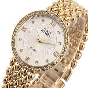 Gd Mujeres Relojes de pulsera Reloj de Cuarzo Reloj Pulsera de Damas Relogio Feminino Saat Regalos de Primeras Marcas de Lujo Reloj Mujer Plata Y19062402