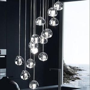 Lampadari a forma di cuore di cristallo LED di lusso 1 ~ 36head Lampada a sospensione per scale Hotel Hall Mall con lampade a LED G4 fai da te a soffitto droplight Illuminazione