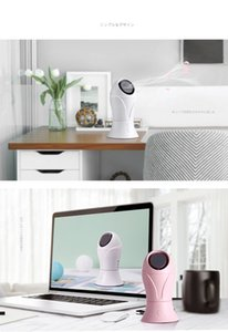 2020 Mini Leafless Cooling Fan Portable Desktop USB Charging Pink White Color No Leaf Cooling Cooler 2 Speed Rating Leafless Fan