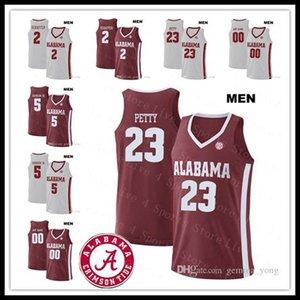 2019 Uomini Alabama Crimson Tide College Basketball 23 John Petty 3 Alex Reese 2 Sexton 25 Horry Collin Robert Schaffer Ncaa cucita maglie