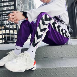 Roxo Sweatpants Homens Plus Size Casual Impresso Moda Men Pants Hip Hop movimento Lazer Calças Marca Lápis Joggers