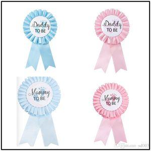 Broche du nouveau-né Parti Décore New Style Badge Maman Papa à être rose bleu Creative Simplicité moderne Corsage usine de vente directe de la p1