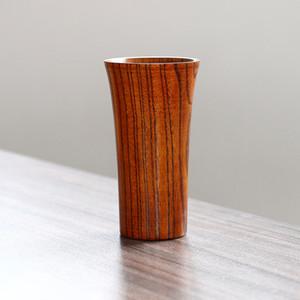 Copa de madeira fábrica Atacado New Arrival Com Pega Chá Wine Use Segurança madeira Capacidade Artesanato Handmade Big Rodada Rim Cup DH0067 T03