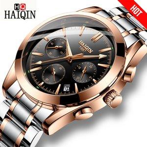 Haiqin Hommes Montres Sport / mliltary / or Montre Hommes Montre-Bracelet Hommes Montres Top Marque De Luxe Relojes Hombre Montre-Bracelet Mâle 2018 Y19051603
