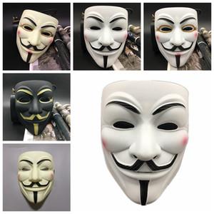 V pour Vendetta Masque Mâle Femelle Femelle Décorations De Fête Masques Masque Complet Masques Mascarade Film Props Mardi Gras Effrayant Costume d'Horreur Masque RRA2021