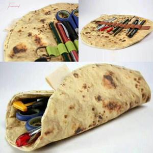 O mais recente imitação Pancake engraçado Pizza Carteira de papelaria Ferramenta Laminado Coleção Bag April Fools Day presente X Dropship 15
