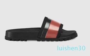 Lüks Gerçek Deri Erkekler Kadınlar Sandalet Tasarımcı Ayakkabı Terlik İnci Yılan Baskı Slayt Yaz Geniş Düz Sandalet Terlik AL30