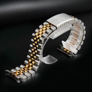 13 milímetros 17 milímetros 20 milímetros de aço inoxidável Watch Strap Banda 20 milímetros de metal homens pulseiras Curved End Silver Moda Mulheres Sólidos Pulseira Acessórios Ligação