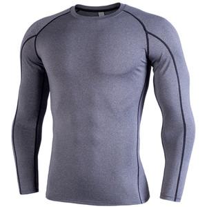 Erkek Trainig Jogger Aktif tişörtleri Nefes Bahar Giyim Running tişörtleri Evlerini Baskı Leter İnce Uzun kovanı Tişörtler Tops