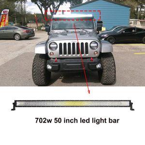 ECAHAYAKU изогнутый 702W LED Light bar 50 дюймов прямой LED Light bar Work Light Combo Auto Lamp для jeep ATV truck off-road 4x4