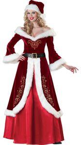 Womens Christmas Costumes Long Dress Long sleeve Christmas Performance Costumes Dresses Cosplay Dress Up Festival Clothing Christmas Set