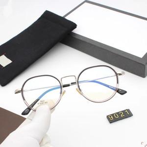 2019 occhiali rotondi Uomo Donna Occhiali da vista Montatura per gli occhiali con lenti / decorazione Eyewear chiaro Plain Lens Vintage Retro