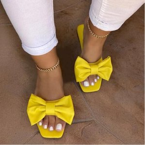 Women Flat Slippers Summer Candy Color Non Slip Ladies Slides Outside Dress Fashion Comfortable Slip On New Female Shoes