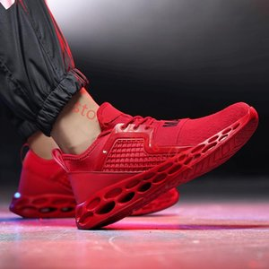 New Breathablemen Running Shoes Air Mesh Men Running Shoes Jogging Gym Training Athletic Outdoor Sport Shoes Red Blue Sneakers Hococal 2020