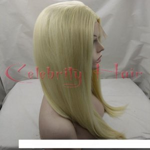 Short bob straight ombre 613# side part 2-3inch 150% full hair glueless lace front wig dark roots 3inch wigs sintetico