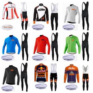 KTM KUOTA Cycling Winter Thermal Fleece jersey babero conjuntos Winter Men's transpirable y a prueba de viento sudadera al aire libre S195910