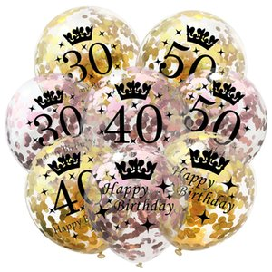 5pcs 30th 40th 50th Birthday Party Decorations Ballon Happy Birthday Number Globos Baby Shower Party Wedding Decor Supplies, Q