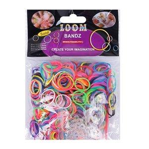 ashion dei braccialetti elastici 600 colori differenti bande di gomma da telaio braccialetto 24 Clip 1 gancio fai da te Per Loom Bracciale braccialetti per Wome ...