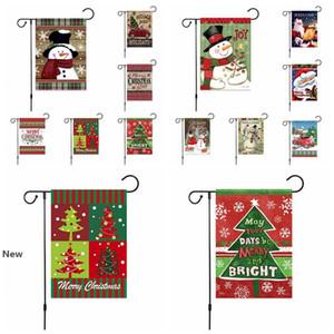 Decorazioni di Natale di benvenuto Giardino Bandiera Buffalo retrò plaid Rustico Iuta Bandiera piazzale esterno 30 * 45cm RRA2570