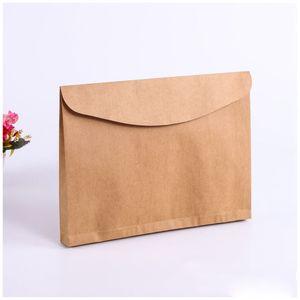 Horizontal Documentos Bolsas Titular de arquivo em branco do presente Livro grosso envelope Kraft Embalagem Sacos
