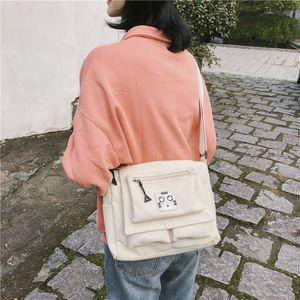 Amazing2019 Leinwand Ulzzang Tasche Mädchen Ins Schule Briefträger Paket Schulmädchen Concise Single Shoulder Satchel Frau