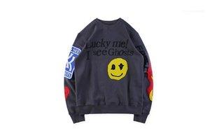 Jerseys Graffiti diseñador fantasmas niños ver sudaderas adolescente ropa para hombre sonrisa impresa O-cuello