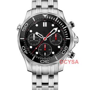 Lujo de la manera Movimiento cuarzo azul principal del cronógrafo para hombre impermeable del deporte Relojes reloj del deporte masculino hombres del reloj del Relogio 2020