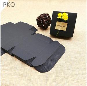 100pcs nero all'ingrosso della carta kraft regalo Scatole per imballaggio di cartone pacchetto scatola del mestiere per la festa di compleanno di favori Jewelry Box Small