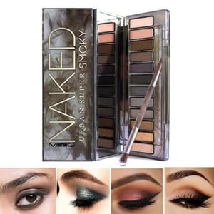 Myg Makeup Eyes Kosmetik Smoky Lidschatten Pallete Schimmer Matte Lidschatten Wärme Makeup Eyes Leicht, Lidschatten mit Pinsel zu tragen
