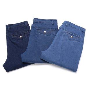 Pantaloni casual a vita alta da uomo di jeans di mezza età, pantaloni casual di mezza età, autunno e inverno, più pantaloni lunghi di velluto