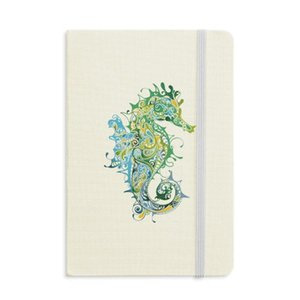 Colorful Hippocampus Marine Life Pattern Notebook Fabric Hard Cover Classic Journal Diary A5