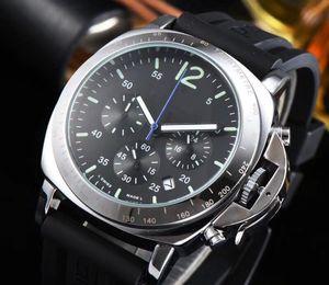 relogies Marca 2019 Todos os Subdials Trabalho Mens Relógios militar Quartz Relógios de pulso Cronômetro Relógio de luxo suíços para homens Montre de luxe