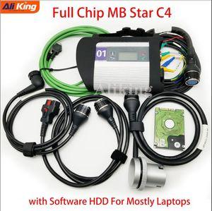 Гарантия качества MB Star C4 SD Connect C4 с программным обеспечением жесткого диска 2019.03V Для диагностики Wi-Fi MB star Диагностический инструмент мультиплексора